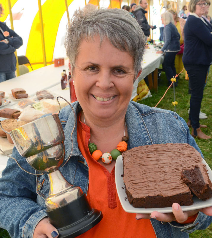 Karen Bowen of Llanfihangel ar Arth took home the Highest Points Cup in the Cookery section Pic Tim Jones