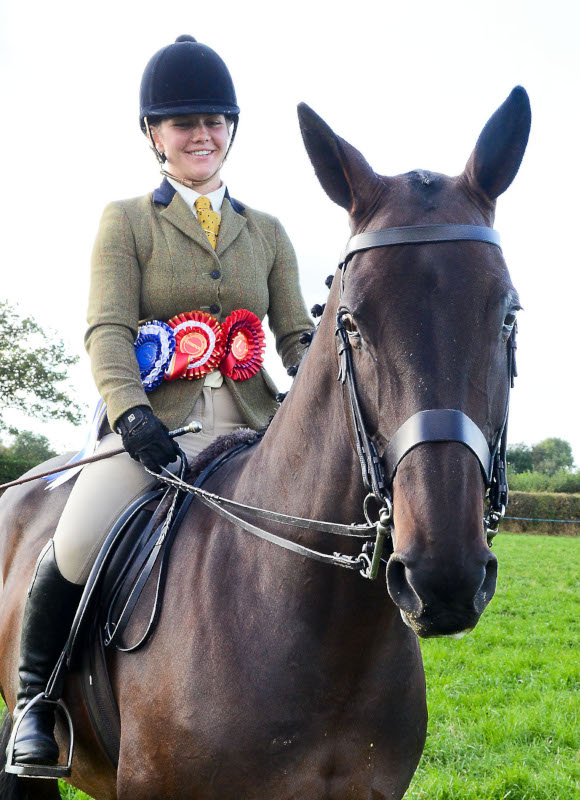 The Reserve Supreme Champion in the horse section was 'Mojo'. Champion of the Hunter Section from Hope Davies, Rhos, Llandysul. Pic Tim Jones