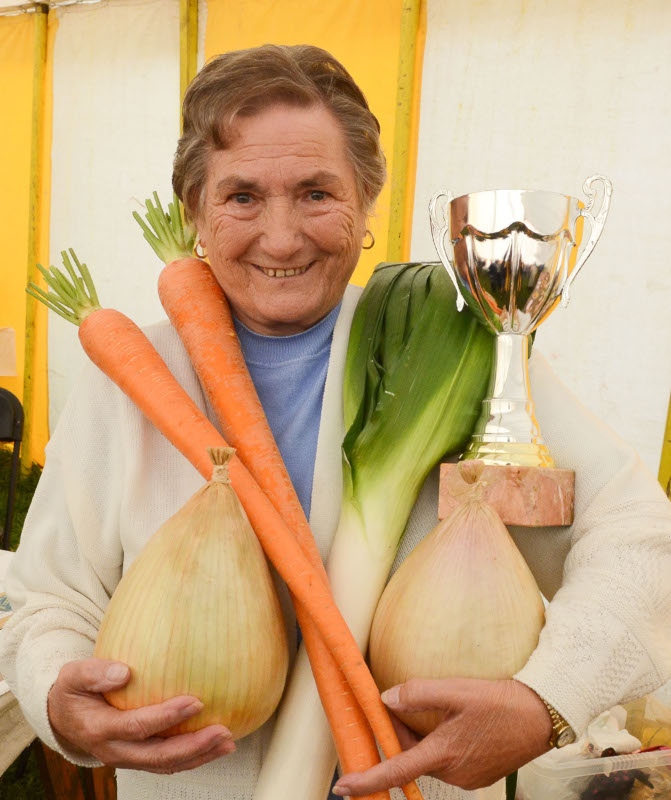 Margaret Jones, Felindre won the Highest Points Cup in the  Garden section Pic Tim Jones